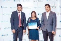 Our team after receiving the award for Best Real estate project Luxury R...